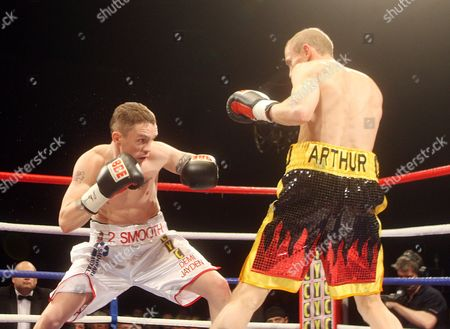 Stock Image of Jason Booth and Jamie Archer Fight For the British & Commonwealth Super Bantamweight Title