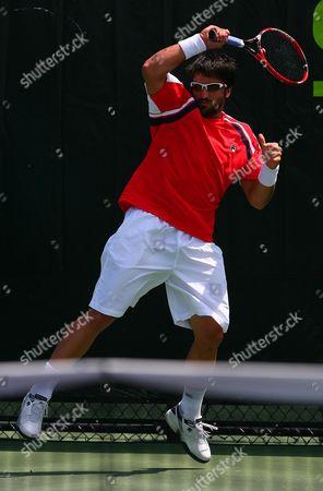 Jarko Tipsarevic of Serbia in Action at the Sony Ericsson Miami Masters Series United States Miami
