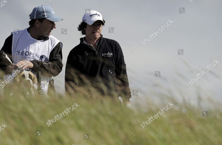 Rory Mcilroy of Northern Ireland Talks with His Caddie J P Fitzgerald United Kingdom Fife