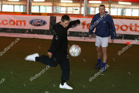 Former Arsenal player Nigel Winterburn holds a training session with Ford Centre Circle mascots at the Powerleague London City facility
