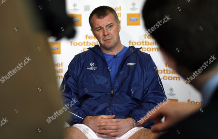Former Manchester United player Gary Pallister is interviewed about the match