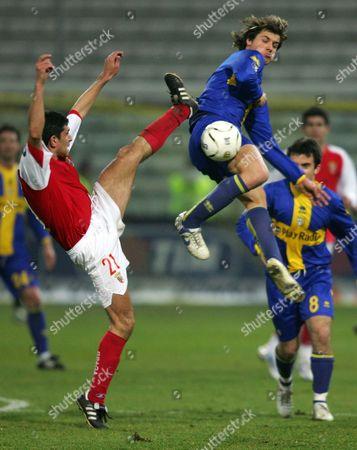 Editorial photo of Uefa Cup uefa Cup Round of 32 parma V Braga - 22 Feb 2007