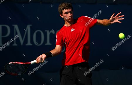 George Morgan of Great Britain in Action at the Us Open 2010 United States New York