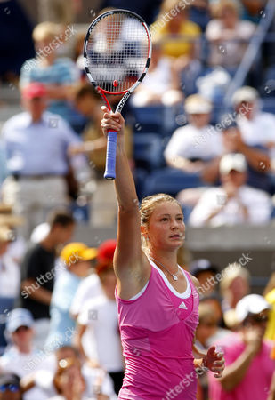 Dinara Safina of Russia in Action During Her Match Versus Flavia Pannetta of Italy United States New York