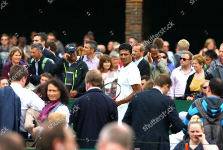 Mahesh Bhupathi Looks Through the Crowds During the Championships Wimbledon 2013 United Kingdom London