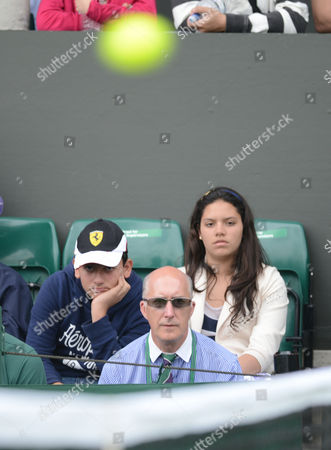 Stock Picture of Line Judge Andrew Mcdougall Who Was Recently Injured by David Nalbandian at Queen's Club Looks On As A Reserve Official On One of the Outside Courts United Kingdom London