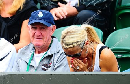Bec Hewitt the Wife of Lleyton Hewitt with His Coach Tony Roache United Kingdom London