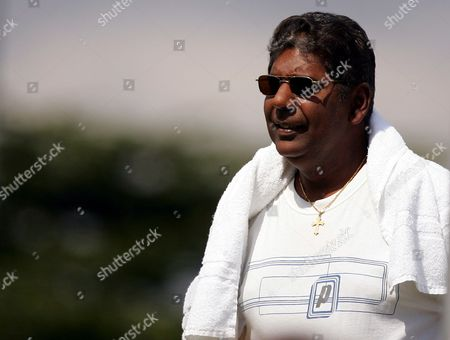 Vijay Amritraj Father to Prakesh Amritraj of India Watches His Son in Action During the Qualifying For the Wimbledon Championships 2009 at Roehampton United Kingdom London