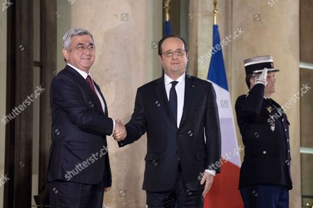 Editorial image of Armenian President state diner at the Elysee Palace, Paris, France - 08 Mar 2017