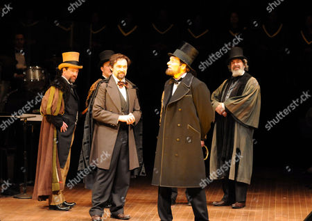 Stock Photo of Special performance honoring President Abraham Lincoln, featuring David Selby