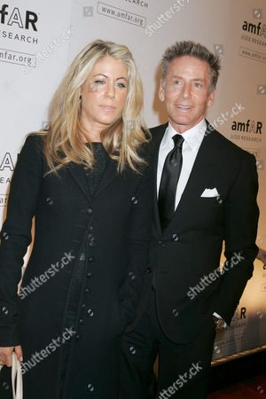 Marci Klein and father Calvin Klein