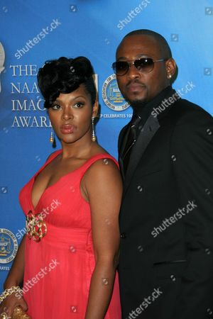 Stock Picture of Omar Epps and wife Keisha Spivey