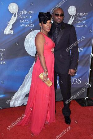 Stock Image of Omar Epps and wife Keisha Spivey