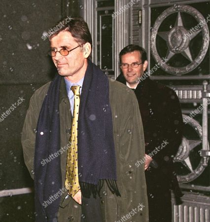 Head of the Osce Mission in Chechnya Kim Traavik (front) Leaves Russian Foreign Ministry Officee After His Meeting with Deputy Foreign Minister Yevgeny Gusarov in Moscow Russia 11 November 1999 Kim Traavik Described Refugee Problem As Serious -sergei Chirikov/epa Photo Russian Federation Moscow