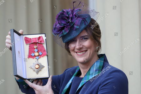 Dame Katherine Grainger with her Dame Commander award