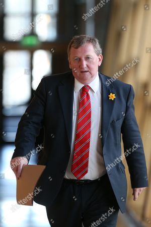 Alex Rowley, Deputy Leader of the Scottish Labour Party, makes his way to the Debating Chamber