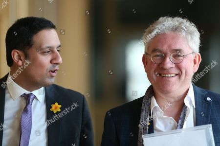 Stock Photo of Anas Sarwar (Labour) and Kenneth Gibson (SNP) make their way to the Debating Chamber