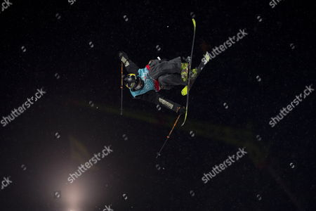 Joss Christensen of the USA in action during the Men's Slopestyle finals at the X-Games Hafjell 2017 in Hafjell, Norway, 09 March 2017.