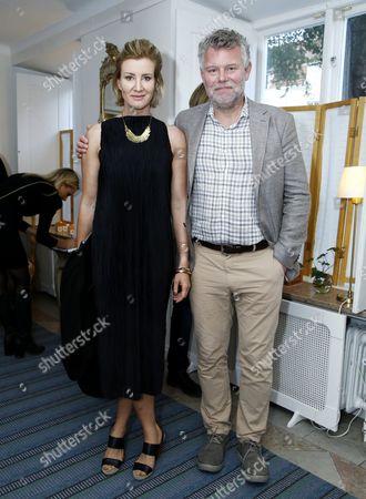 Jan Arnald aka Arne Dahl, Swedish novelist with wife Sara