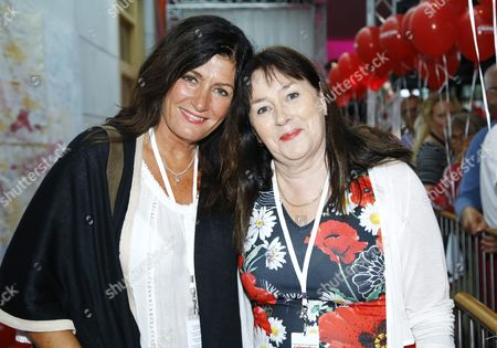 Mari Jungstedt, Swedish journalist and crime fiction author and Anna Jansson, Swedish crime writer
