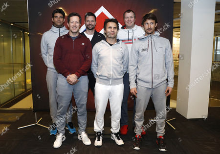 Stock Image of Jonas Bjorkman (SWE), Mark Philippoussis (AUS), Juan Carlos Ferrero (Spain), Fabrice Santoro (France), Magnus Larsson (SWE), Robin Soderling (SWE)