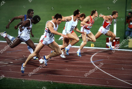 Allan Wells of Great Britain (l) Wins Gold in the Men's 100m Final Athletics Lenin Olympic Stadium Moscow Olympics Russia 25 July 1980 United Kingdom Dundee, Scotland