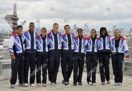 Some of the Team Gb Track and Field Athletes Who Have Been Selected to the 2012 London Olympic Team: Adam Gemili Andrew Osagie Goldie Sayers Greg Rutherford Rhys Williams Yamile Aldama Lisa Dobriskey Aniyika Onuora and Sophie Hitcho United Kingdom London