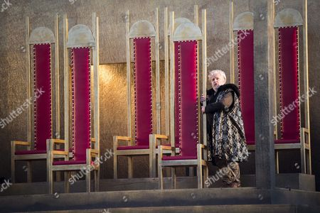 Stock Image of A Picture Made Available On 13 June 2015 Shows Italian Baritone Paolo Gavanelli As Francesco Foscari Performing During the Dress Rehearsal of 'I Due Foscari' Opera by Giuseppe Verdi in the Monastery Courtyard at the Abbey of St Gallen Switzweland 12 June 2015 the Opera Will Premiere On 19 June As Part of the 10th St Gallen Festival Running From 19 June to 03 July