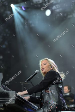 French Singer Veronique Sanson Performs On the Main Stage During the 40th Paleo Festival in Nyon Switzerland 24 July 2015 the Open-air Music Festival Runs From 20 to 26 July