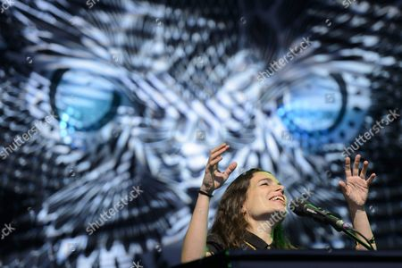 French-israeli Singer and Songwriter Yael Naim Performs During the 40th Paleo Festival in Nyon Switzerland 26 July 2015 the Open-air Music Festival Runs From 20 to 26 July