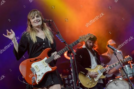Julia (l) and Angus (r) of Australian Band 'Angus and Julia Stone' Perform On the Main Stage During the 40th Paleo Festival in Nyon Switzerland Late 22 July 2015 the Paleo Open-air Music Festival the Largest in the Western Part of Switzerland with an Approximately 270 000 Spectators Expected in Seven Days Runs From 20 to 26 July 2015