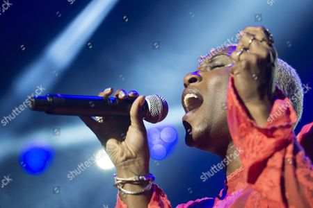 Us Singer Liv Warfield Performs with the Band the Npg Hornz On the Stravinski Hall Stage During the 49th Montreux Jazz Festival in Montreux Switzerland 11 July 2015 the Music Event Runs Until 18 July