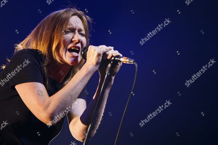Beth Gibbons of British Band Portishead Performs During the 49th Montreux Jazz Festival in Montreux Switzerland 10 July 2015 the Music Event Runs Until 18 July