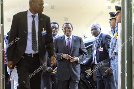 Tanzanian President Jakaya Mrisho Kikwete (c) Arrives For the Second Meeting of the Secretary-general's High-level Panel On the Global Response to Health Crises at the European Headquarters of the United Nations (un) in Geneva Switzerland 15 July 2015 the Panel Chaired by the Tanzanian President Was Installed by Un Secretary-general Ban to Tackle Global Health Crises Better Based On the Lessons Learned From Ebola Virus Disease in West Africa