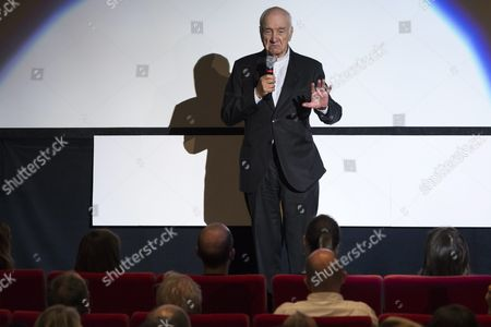 German Actor Musician Painter and Writer Armin Mueller-stahl Speaks On Stage After Receiving the Golden Eye Lifetime Achievement Award During the Zurich Film Festival (zff) in Zurich Switzerland 28 September 2015 the Festival Runs From 24 September to 04 October