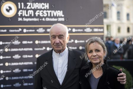 German Actor Musician Painter and Writer Armin Mueller-stahl (l) and His Wife Gabriele Scholz Pose For the Photographers On the Green Carpet Before the Screening of the Movie 'Night On Earth' and a Lifetime Achievement Award Ceremony During the Zurich Film Festival (zff) in Zurich Switzerland 28 September 2015 the Festival Runs From 24 September to 04 October