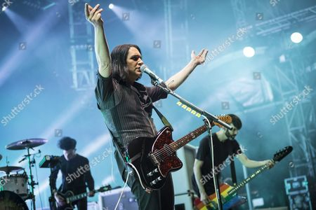Brian Molko of British Band Placebo Performs During the Music Festival Openair St Gallen in St Gallen Switzerland 27 June 2015 the Event Runs From 25 to 28 June