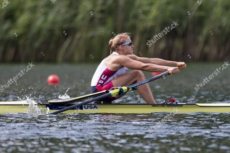 Genevra Stone From the Usa in Action During the Lightweight Men Single Sculls Semi Final at the Rowing World Cup On Lake Rotsee in Lucerne Switzerland Saturday July 11 2015