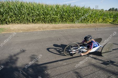 Oksana Masters of the Usa Rides Her Hand Cycle During the Individual Time Trial Competition at the Uci Para-cycling Road World Championships in Nottwil Switzerland 31 July 2015