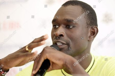 Kenyan Middle Distance Runner David Rudisha Answers Journalists Questions During a Press Conference in Zurich Switzerland Wednesday September 2 2015 David Rudisha Will Compete in Tomorrows Weltklasse Iaaf Diamond League International Athletics Meeting in the Letzigrund Stadium in Zurich