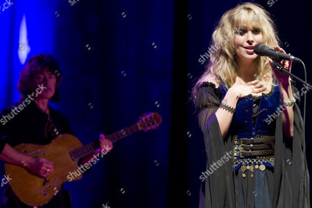 Former Deep Purple guitarist Ritchie Blackmore and Candice Night