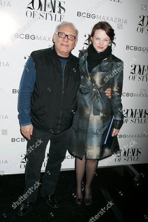 Stock Image of Designer Max Azria and Joy Lauren