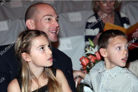 Alex von Furstenberg with children