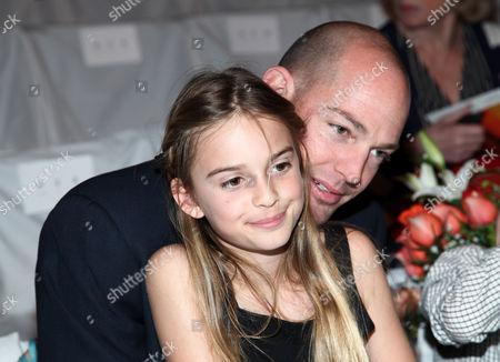 Alex von Furstenberg with daughter