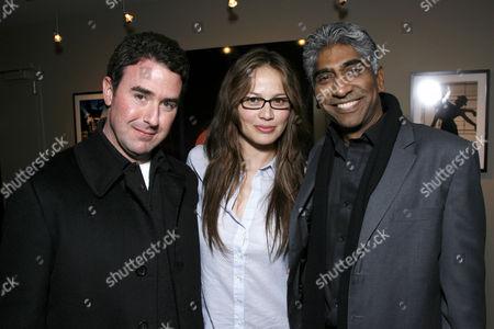 Patrick Aiello, Moon Bloodgood and Ashok Amritraj