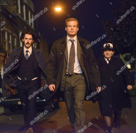 Stock Photo of Jessica Gunning as Kath Morgan, Stefanie Martini as Jane Tennison and Sam Reid as DCI Len Bradfield.