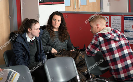 Izzy Armstrong, as played by Cherylee Houston, later finds an upset Faye Windass, as played by Ellie Leach, and realising the tattoo has become infected marches her off to A&E where Faye comes face to face with her past. (Ep 9123 - Fri 17 Mar 2017)