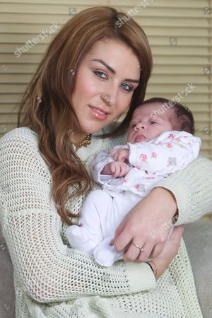 Jenny Thompson, 23, from Bolton, with her newborn baby daughter Izabella who was born on the 2nd January 2013. Jenny became famous after bedding Manchester United and England footballer Wayne Rooney