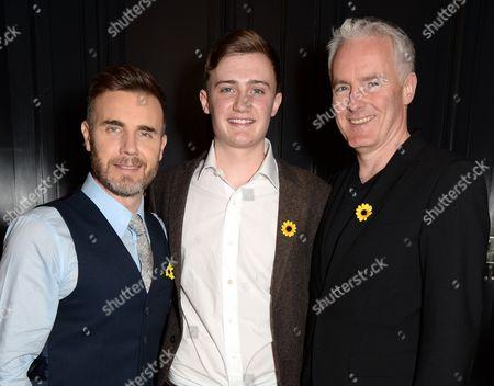 Gary Barlow, Ben Hunter and Tim Firth