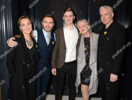 Joanna Riding, Gary Barlow, Ben Hunter, Claire Moore and Tim Firth
